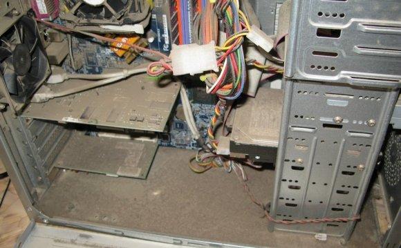 загрязненный компьютер