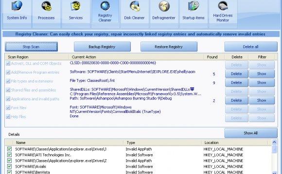 Очистка реестра Registry Life